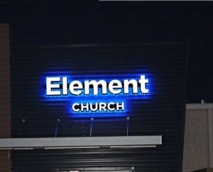 Front-Back Lit, blue light, white lights, Wholesale Channel Letters